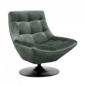 Scaun lounge verde jad/negru din catifea si metal Richelle Richmond Interiors