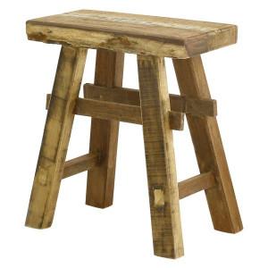 Scaun maro din lemn de pin reciclat Noldor Zago