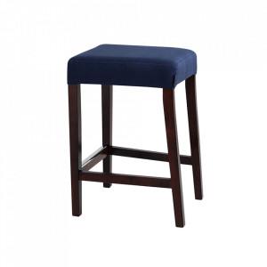 Scaunel albastru/maro din poliester si lemn Wilton Custom Form