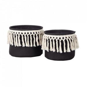 Set 2 cosuri negre/albe din textil Bobbi Kids Depot
