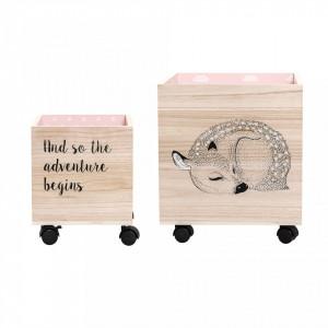Set 2 cutii din lemn Adventure Bloomingville