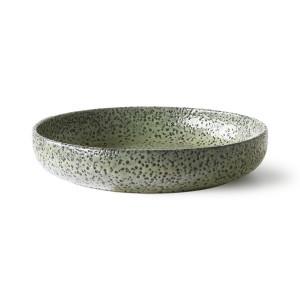 Set 2 farfurii adanci verzi din ceramica 21 cm Goot HK Living