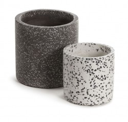 Set 2 ghivece din terrazzo Bransc Round Kave Home