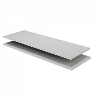 Set 2 rafturi albe din lemn de pin 106 cm Organize Be Pure Home