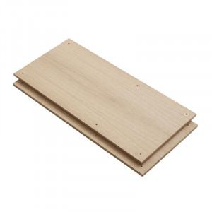 Set 2 rafturi maro din lemn de stejar Elevate B Woud