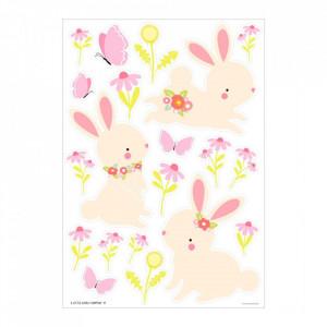 Set 28 stickere pentru perete multicolore din vinil Bunny A Little Lovely Company