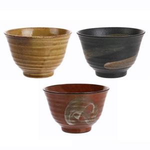 Set 3 boluri ceramice 12,5 cm Japanese Matcha HK Living