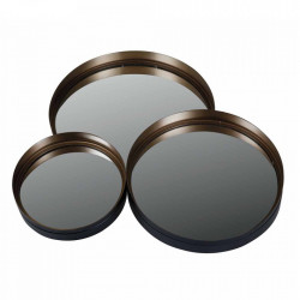 Set 3 oglinzi rotunde aramii din fier Dolce Zago