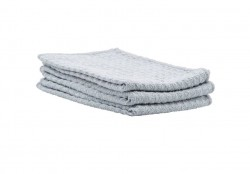 Set 3 prosoape bucatarie gri din poliester si poliamide 35x35 cm Waffle House Doctor