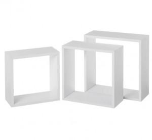 Set 3 rafturi albe din MDF Gim Big White Unimasa