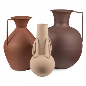 Set 3 vaze maro din fier Roman Brown Pols Potten