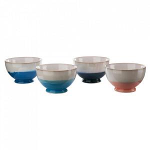 Set 4 boluri multicolore din ceramica 600 ml Panorama Pols Potten