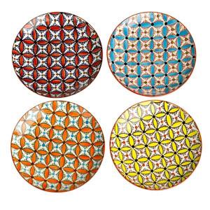 Set 4 farfurii multicolore din ceramica 20 cm Hippy Pols Potten