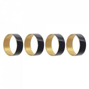Set 4 inele pentru servetele aurii/albastre din fier Ravi Bloomingville