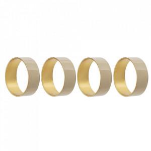 Set 4 inele pentru servetele aurii/maro din fier Ravi Bloomingville