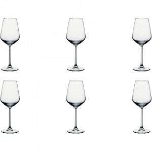 Set 6 pahare transparente din sticla pentru vin 350 ml Allegra
