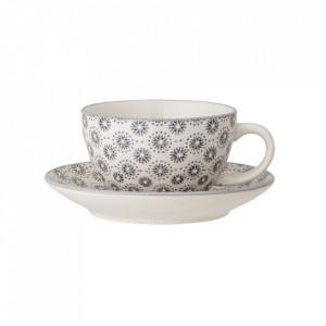 Set ceasca si farfurioara gri din ceramica Elsa Bloomingville