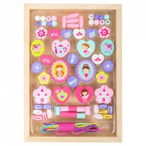 Set creatie bijuterii din lemn si textil Princess Small Foot