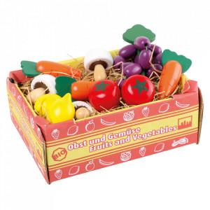 Set de joaca 12 piese din lemn Box with Vegetables Small Foot