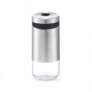 Shaker argintiu/transparent din inox si sticla 220 ml Spice Zeller