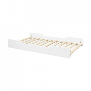 Somera cu margini laterale din lemn si MDF 90x160 cm Harlequin White Cam Cam