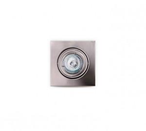 Spot argintiu din metal Halogen Lamp Square Brushed Maxlight