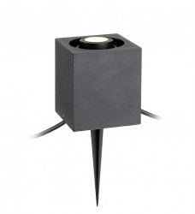 Spot dimabil negru din aluminiu pentru exterior Garden Cube Markslojd