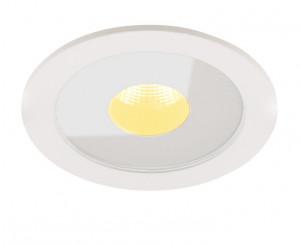 Spot LED alb din metal si sticla Plasma Flush White Maxlight