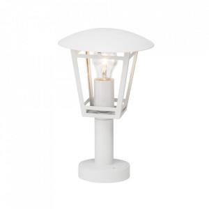 Stalp de iluminat alb din metal si sticla pentru exterior 42,5 cm Riley Brilliant