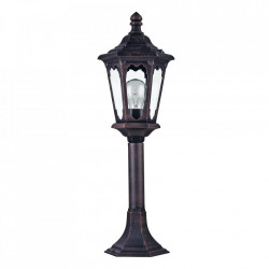 Stalp de iluminat negru din metal si sticla pentru exterior 58,4 cm Oxford Maytoni