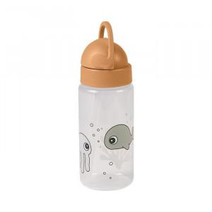 Sticla pentru apa galben mustar din polipropilena si silicon 350 ml Friends Done by Deer