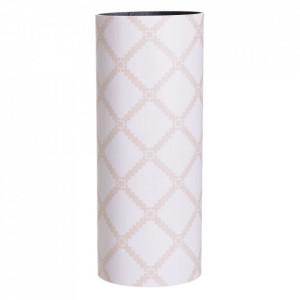 Suport alb/bej din lemn si PVC pentru umbrela 50 cm Mirad Stripe Ixia