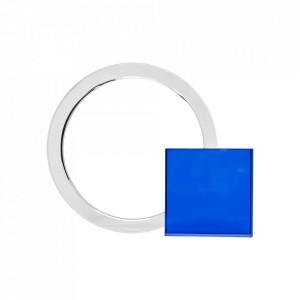 Suport albastru/transparent din sticla pentru carti Christophe Hubsch