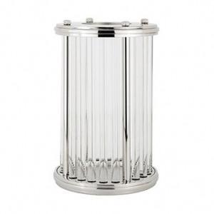 Suport argintiu din aluminiu si sticla pentru lumanare 39,5 cm Eaden Richmond Interiors