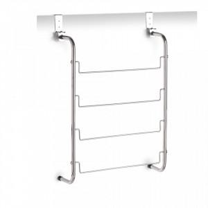 Suport argintiu din metal 44x66,5 cm pentru usa Door Towel Hanger Zeller