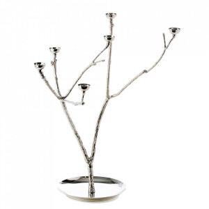 Suport argintiu din metal pentru lumanari 65 cm Twiggy L Pols Potten