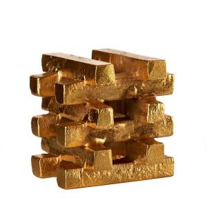 Suport auriu pentru lumanare Gold Bars S Pols Potten