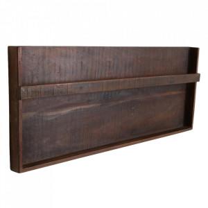 Suport de perete pentru reviste din lemn reciclat Tamina Raw Materials