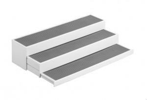 Suport extensibil alb/gri din polipropilena si plastic Kitchen Shelf Wenko