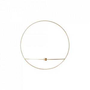 Suport lumanare auriu din alama 12 cm POV Circle Menu
