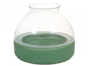 Suport lumanare din ceramica verde si sticla 24 cm Berna Santiago Pons