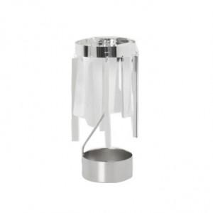 Suport lumanare gri argintiu din metal 18 cm Tangle Ferm Living