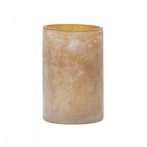 Suport lumanare maro din sticla 13 cm Najid Bloomingville