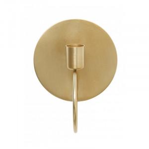 Suport lumanare pentru perete din fier 12 cm Circle Gold Nordal