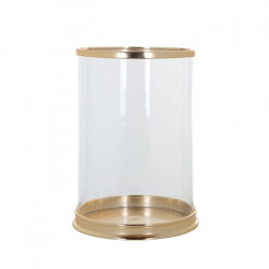 Suport lumanare transparent/auriu din sticla si aluminiu 37 cm Addison Richmond Interiors