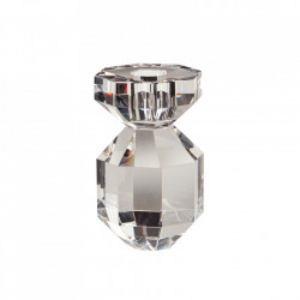 Suport lumanare transparent din sticla 11 cm Elfreda Hubsch