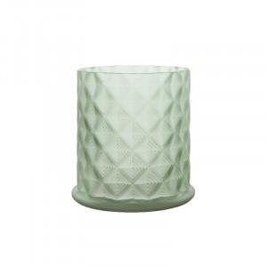 Suport lumanare verde din sticla 12 cm Moswen Lifestyle Home Collection