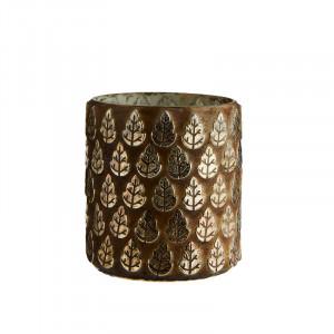 Suport maro aramiu din ciment si sticla pentru lumanare 8 cm Amela Madam Stoltz
