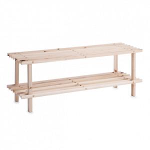 Suport maro din lemn de pin pentru incaltaminte Softwood Zeller