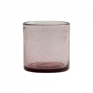 Suport mov din sticla pentru lumanare 10 cm Bubble Nordal